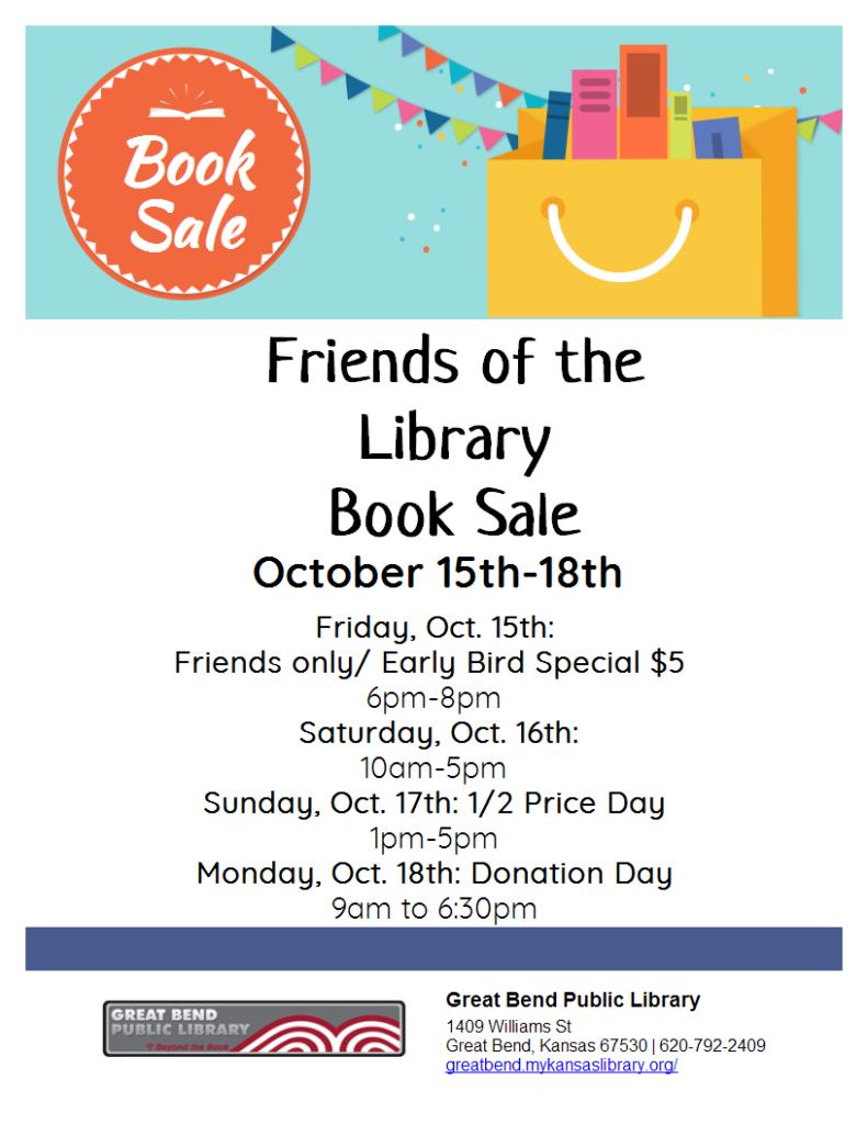 2021 Book Sale Flyer
